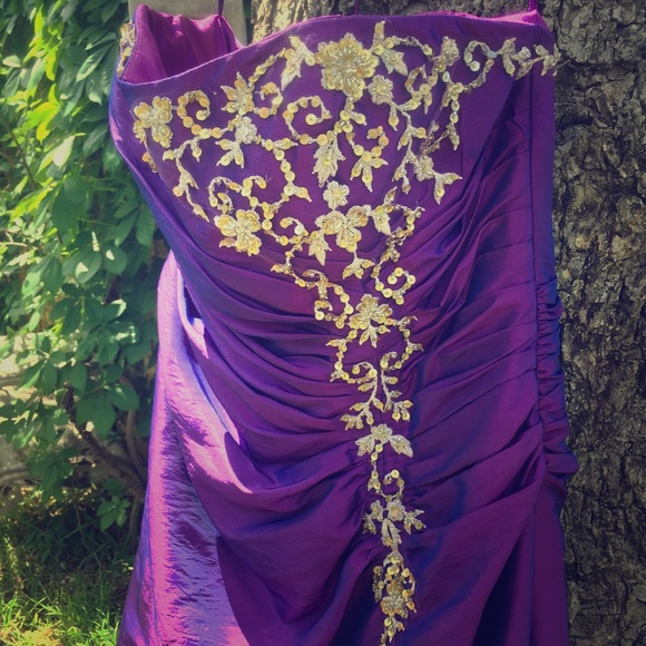 Dresses Purple And Gold Prom Or Formal Dress Poshmark